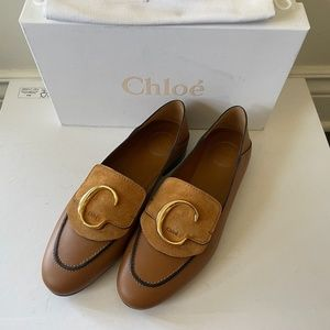 NEW Chloe C Story brown leather convertible loafer